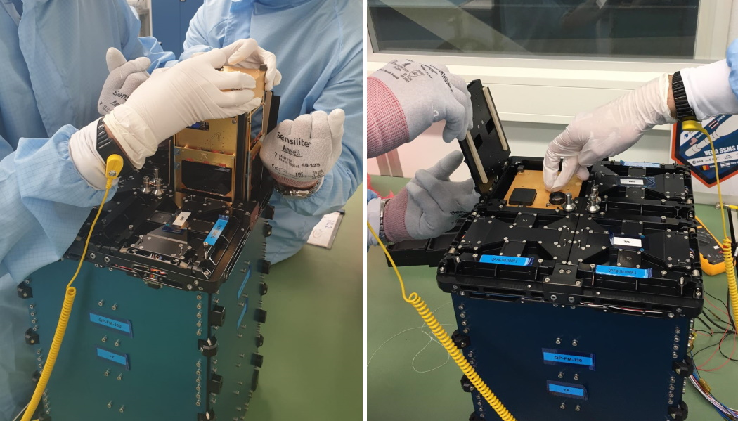Integration of the PICASSO CubeSat in the Picosatellite Orbital Deployer.