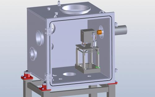 The design of the vacuum chamber of the MAJIS VIS-NIR facility and internal mechanics for the detector characterization