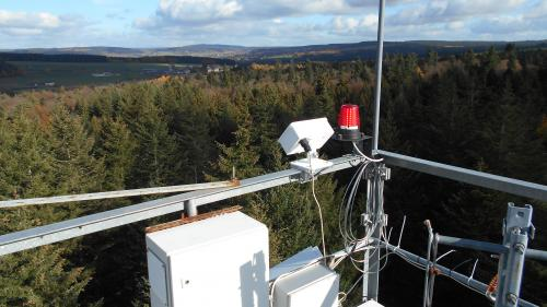 Figure 3. Test of the newly-developed MAX-DOAS system in the Ardennes in autumn 2018.