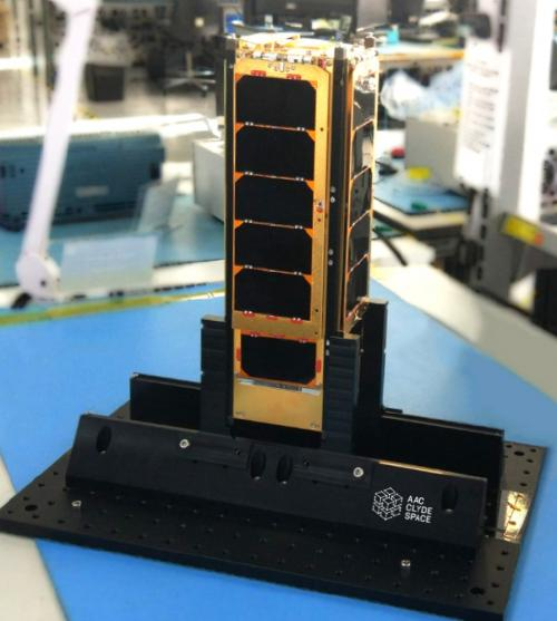 The golden CubeSat PICASSO.
